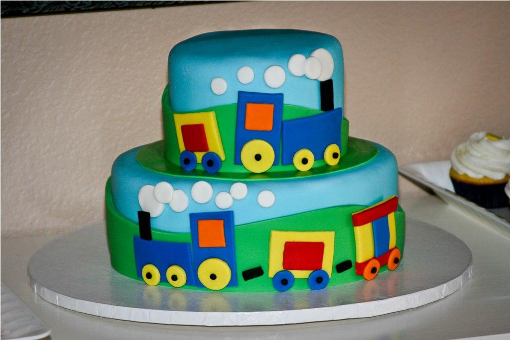 Детский торт поезд фото