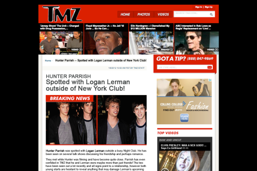 hunter parrish dating logan lerman Ellen talks with rising star logan lerman about his role in the upcoming film, the three musketeers she also gives him some tricked-out ellen underwear, c.