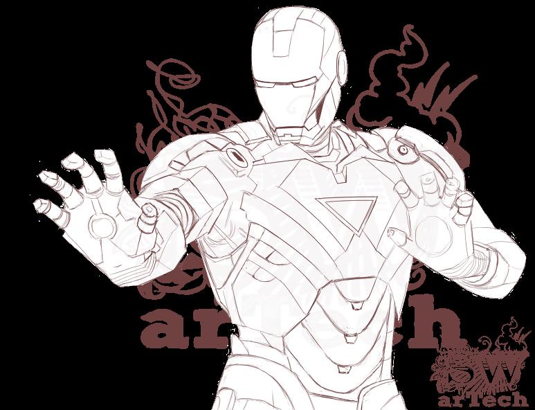 Iron Man Face Drawing